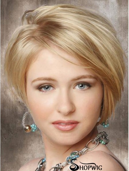Synthetic Lace Front Wigs Cheap Chin Length Bobs Cut Blonde Color