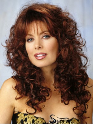 Lace Front Long Curly With Bangs Synthetic Lace Wigs