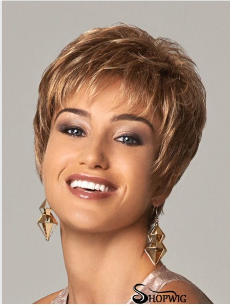 Curly Layered 8 inch Blonde Soft Synthetic Wigs