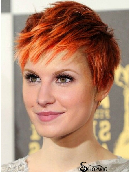 Cheap Synthetic Hair Lace Front Hayley Williams Wigs UK Straight Style Cropped Color