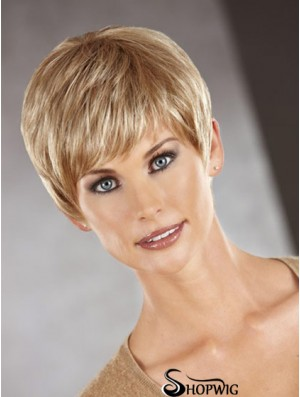 Cropped Boycuts Straight Auburn Perfect Synthetic Wigs