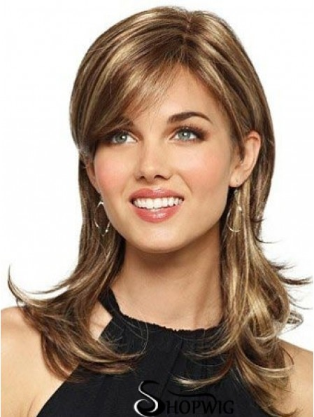 Long Layered Wavy Brown Durable Synthetic Wigs
