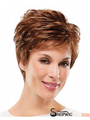 Curly Layered Short Suitable Auburn Synthetic Wigs