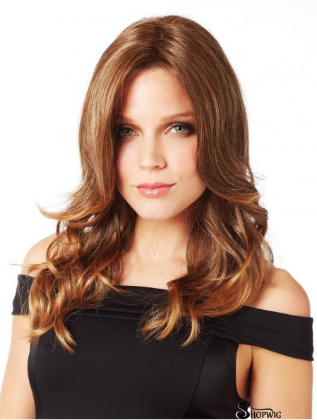 Long Curly Without Bangs Perfect Auburn Lace Front Wigs