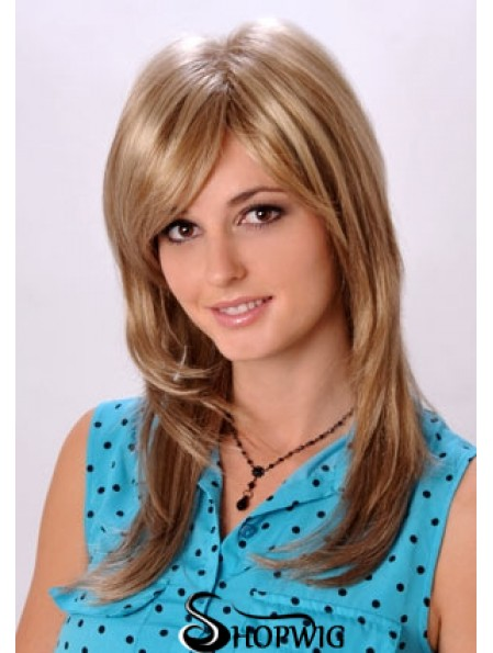 Top Blonde Straight Layered Long Wigs