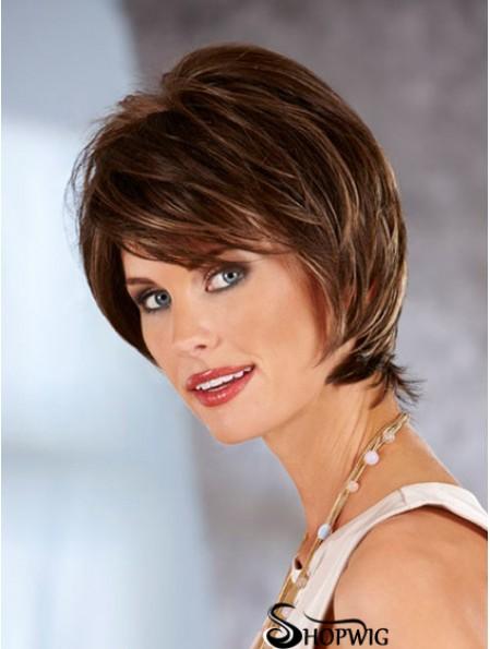 Straight Auburn Beautiful Chin Length Classic Wigs