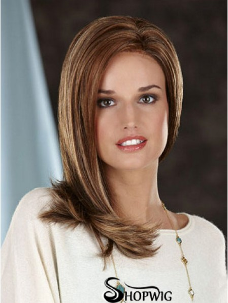 Straight Without Bangs Long Brown Best Lace Front Wigs