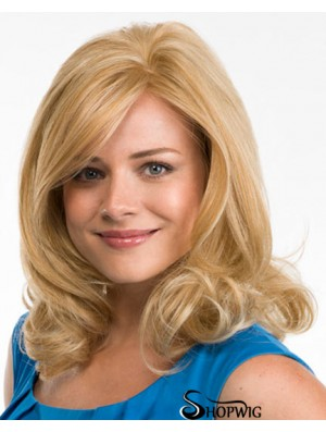 Curly Layered Lace Front Sassy 18 inch Blonde Long Wigs