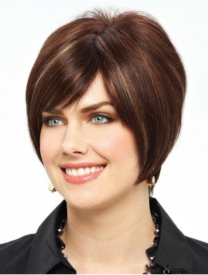 Short Straight Lace Front Auburn Hairstyles Bob Wigs