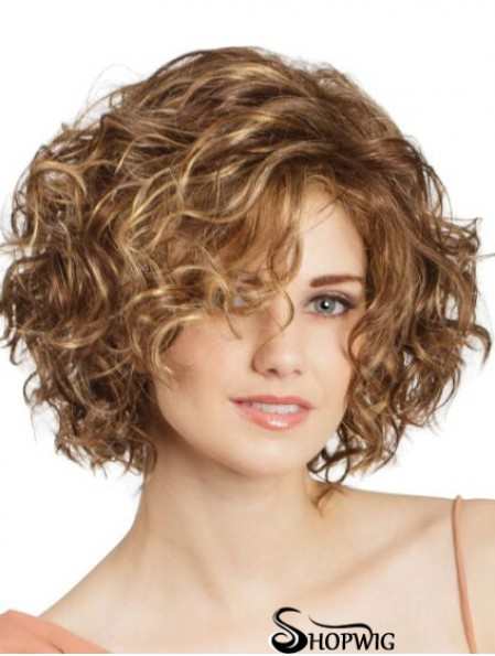 """Lace Front Curly 11"""" Blonde Bob Cut Wigs"""