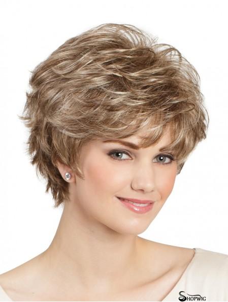 "Classic Wavy 8"" Blonde Capless Lady Wig"