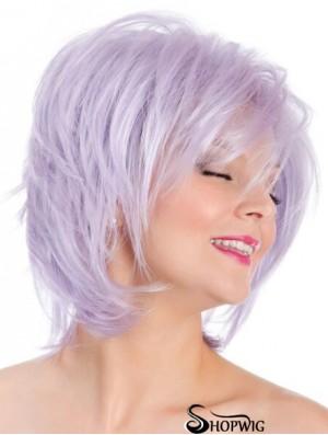 Capless Straight Lilac 8 inch Bobs Fashion Wig