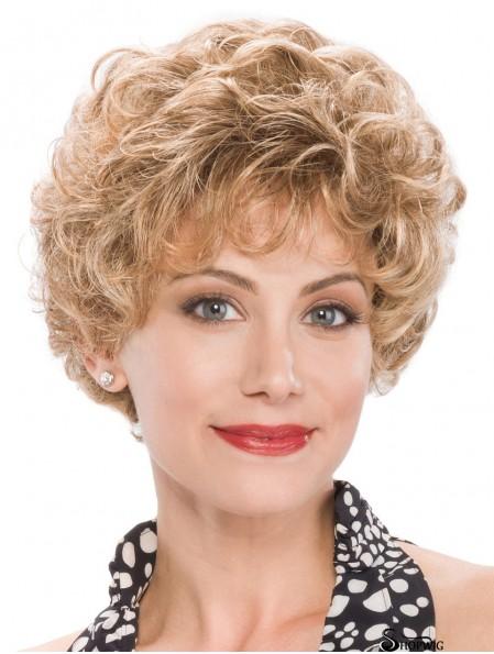 """8"""" Capless Curly Short Classic Ladies Wig"""