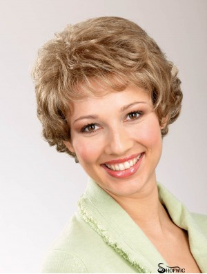 """Wavy Blonde 6"""" Classic Synthetic Lace Front Short Wigs"""