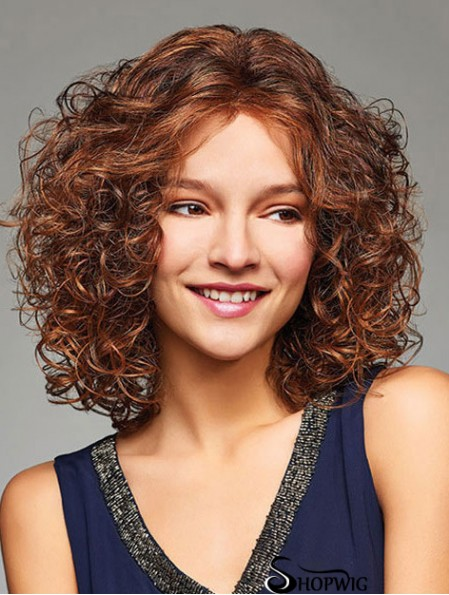Blonde 12 inch Sassy Shoulder Length Curly Layered Lace Wigs