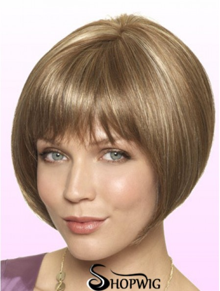 Lace Front Short Straight Blonde Style Bob Wigs