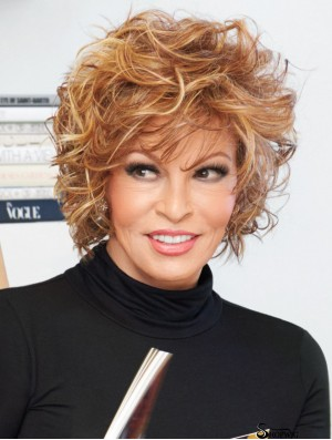 """Curly Chin Length Blonde 10"""" Lace Front Incredible Bob Wigs"""