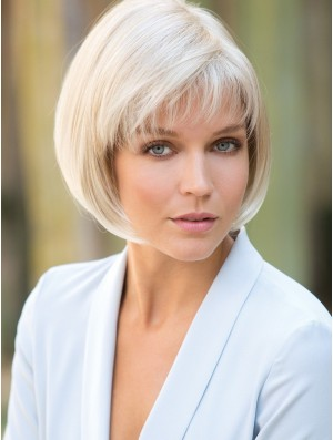 10 inch Short Capless Platinum Blonde Best Bob Wig