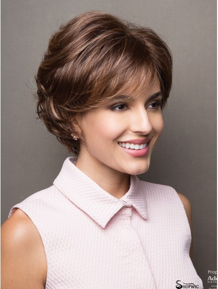 4 inch Short Capless Brown Bobs With Fringes