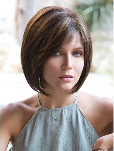 10 inch Chin Length Monofilament Ombre/2 tone Wig Bobs