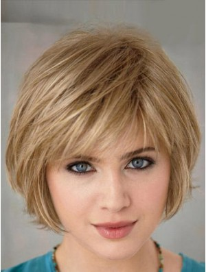 Short Layered Bob Hairstyles Blonde Color Bobs Cut Straight Style