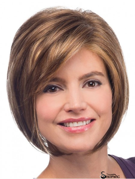 Straight Chin Length Blonde 10 inch Capless Soft Bob Wigs