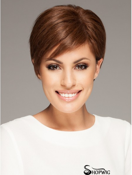 Ladies Mono Wigs 100% Hand Tied Straight Style Short Length