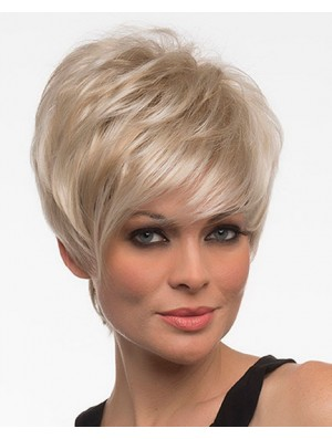 Wigs Online UK Blonde Color With Capless Cropped Length