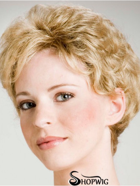 Curly Blonde Affordable Short Classic Wigs