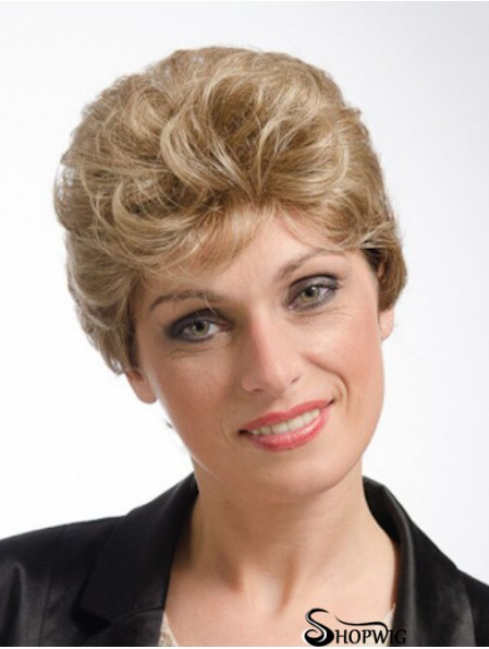 Curly Blonde Amazing Short Classic Wigs