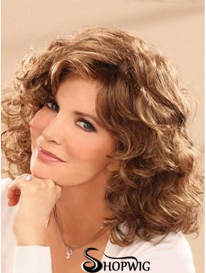 Shoulder Length Wavy Layered Full Lace Brown Comfortable 14 inch Jaclyn Smith Wigs