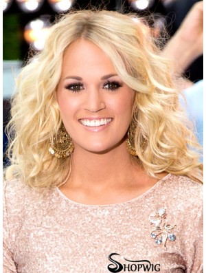 Affordable Blonde Long Wavy 20 inch Layered Carrie Underwood Wigs