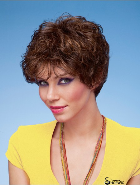 Curly Brown Incredible Short Classic Wigs