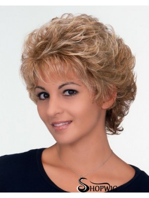 Synthetic Short Curly Capless Online Wigs