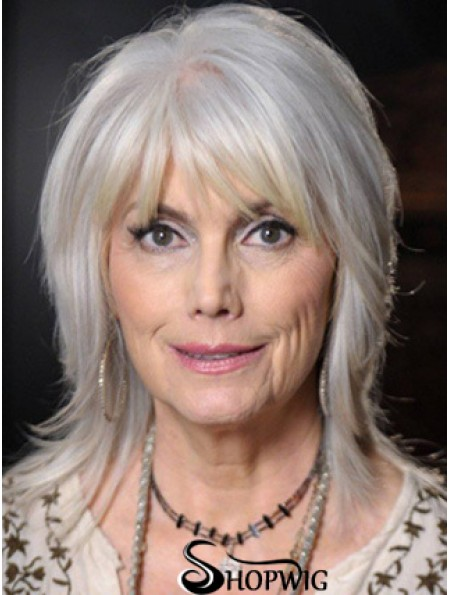 Straight Lace Front 14 inch Modern Shoulder Length Grey Wigs