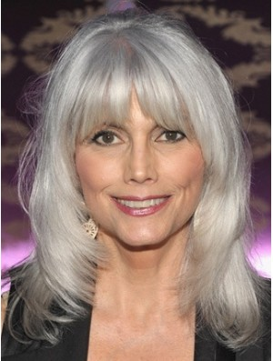 Lace Front Wig True Grey Cuut Wavy Style Shoulder Length