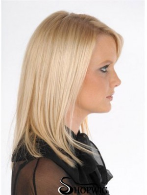 Style Blonde Straight Remy Human Hair Clip In Hair Extensions