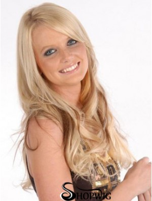 Affordable Blonde Curly Remy Human Hair Clip In Hair Extensions