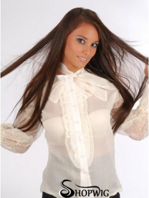 Natural Auburn Straight Remy Human Hair Clip In Hair Extensions