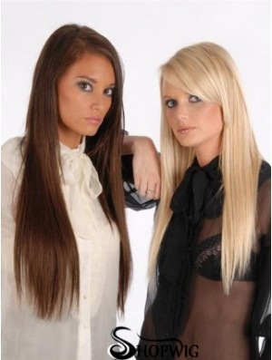 Suitable Auburn Straight Remy Human Hair Clip In Hair Extensions