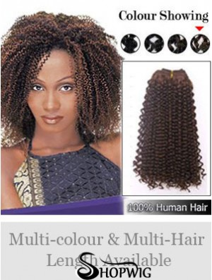 Curly Remy Human Hair Auburn Affordable Weft Extensions