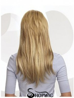 Cheap Blonde Straight Remy Human Hair Clip In Hair Extensions