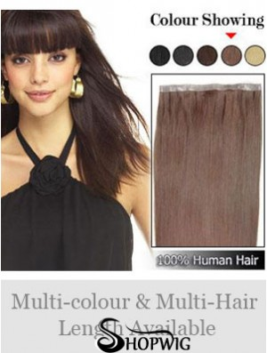 Straight Remy Human Hair Auburn Discount Weft Extensions