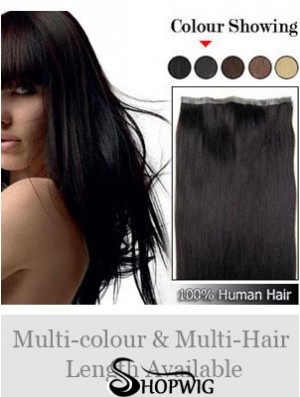 Straight Remy Human Hair Black Incredible Weft Extensions