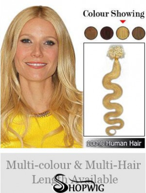 Trendy Blonde Wavy Micro Loop Ring Hair Extensions