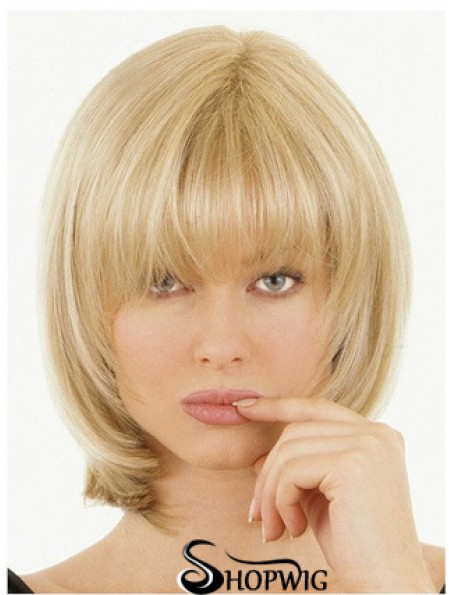 Half Wigs With Remy Straight Style Blonde Color