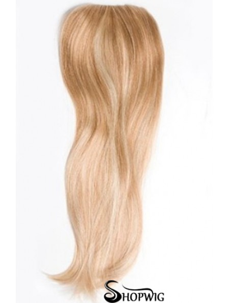 Cheapest Blonde Straight Remy Human Hair Clip In Hairpieces