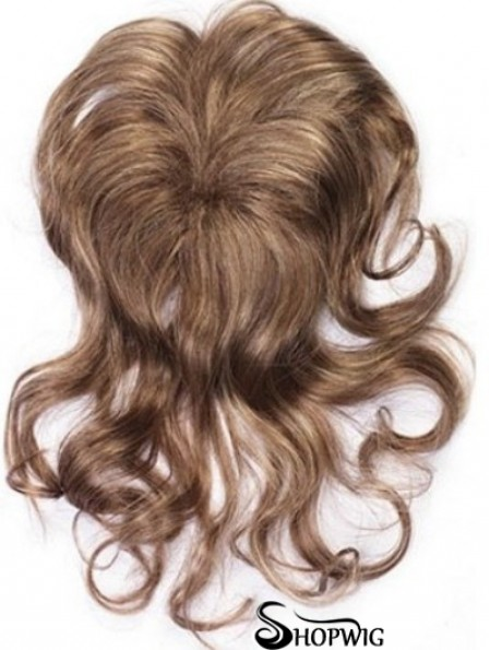 Clip In Hairpieces With Synthettic Wavy Style Brown Color