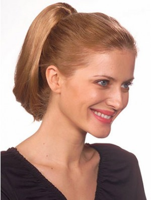 Fashionable Straight Brown Ponytails